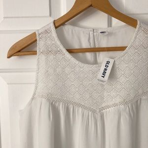 Old Navy - Detailed White Tank Top (NWT)